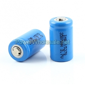 Wholesale IMR 15270 LiMn 350mAh Battery(2pcs)