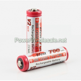 Wholesale Efest IMR 14500 700mah Limn battery with Nipple (1pc)