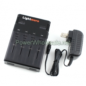 Wholesale Lightmore Q-128 Battery Charger for 4 x batteries, such as 26650, 18650, 18500, 16340, 18350, AA, AAA ect.