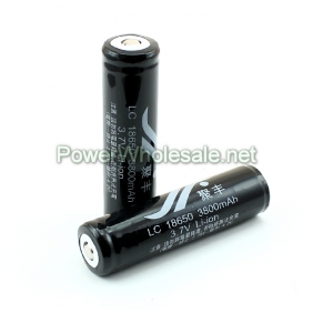 Wholesale Black High Capacity LC 18650 3800mAh Protected 3.7v Li-ion battery-Jufeng(2pcs)