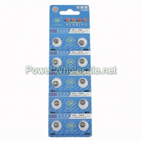 Wholesale SUNKING SK AG1 1.55V Alkaline Button Cells
