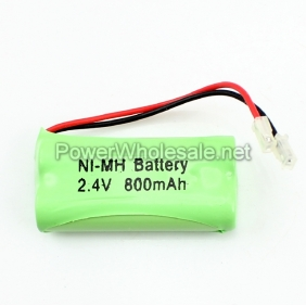 Wholesale Ni-Mh AA 800mah 2.4V Rechargeable Cordless Phone Green Battery Pack