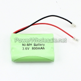 Wholesale Ni-Mh AAA 800mah 3.6V Rechargeable Cordless Phone Green Battery Pack