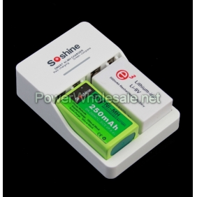 Wholesale Super fast Soshine sc-v1 Charger with 9v battery
