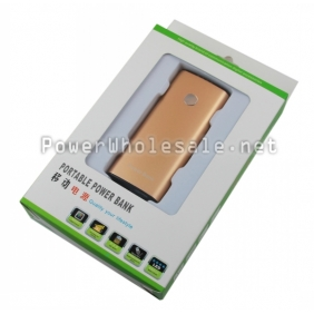 Wholesale 5200mAH Small Portable Power Bank with 2 LED For cell phone/MP3/MP4(khaki)