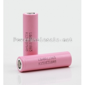 Wholesale High quality LGABD11865 18650 3000mah 3.7V Rechargerable battery with flat top--1pc