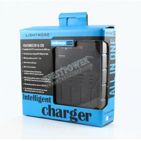 Wholesale Lightmore Q-128 3.7v Intellicharge USB Battery Charger ( US/EU plug)