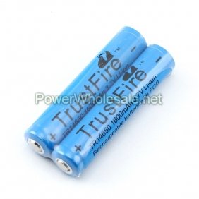 Wholesale TrustFire 14650 1600mAh 3.7V Li-ion Rechargeable protected battery (2 pcs)