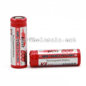Wholesale Efest IMR 14430 600mAh 3.7v LiMn Rechargeable Battery(1pc)