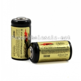 Wholesale Efest 16340 850mAh 3.7v Protected Li-ion Rechargeable Battery with Nipple(1pc)