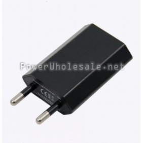 Wholesale Black 5V 1A EU Plug USB battery charger power supply for Iphone,Ipad