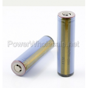 Wholesale Samsung 18650 2800mah Rechargeable 3.7V Protected Li-ion Battery with Nipple(2pcs)