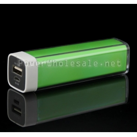 Wholesale Green 2500mAh USB External Power Bank Charger Mobile Power Supply For Mobile Phone
