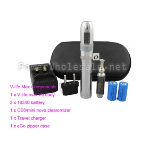 Wholesale Newest high quality VV MOD V-life Max Ego-V9 Kit