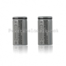 Wholesale Rechargeable battery ICR 18350 800mAh with Flat top for E-cig MOD