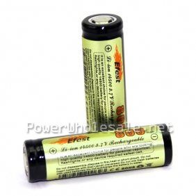 Wholesale Efest 14500 800mAh 3.7V rechargeable Li-ion battery Flat top without PCB(1 pc)