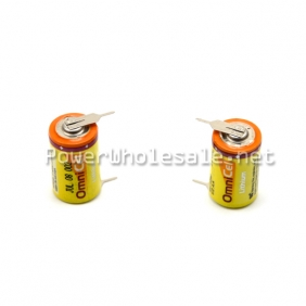 Wholesale OmniCel ER17335 3.6V 2.1Ah 2/3A Lithium Button Top Battery with metal plate