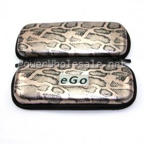 Wholesale Cool vaporizer case Snakeskin decorative pattern carring case dual zipper ego carry case for ecigarette