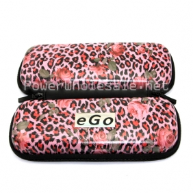 Wholesale Leopard style Colorful EGO Case with Zipper Medium Size Ego Box Ego Bag for Electronic Cigarette kit