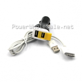 Wholesale Shenzhen Efest popular black color dual usb for iPhone,for iPad car charger with Yellow protected cover