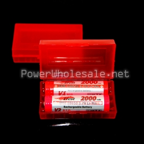 Wholesale Red 2*18650 battery protective case