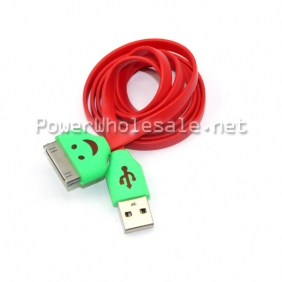 Wholesale high speed flat red long smart USB Cable for cell phone