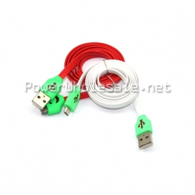 Wholesale colorful high speed flat mini usb cable for Smasung mobile phone