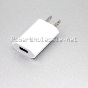 Wholesale white us plug mini usb interface adapter wall charger