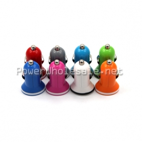 Wholesale Mini USB Car Charger Single USB car charger for Iphone,Ipad, Ipod mobile phones