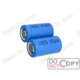 Wholesale Li-ion 14250 3.6V 320mAh Rechargeable battery