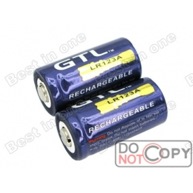 Wholesale GTL LR123A 1800mAh 3.6V Rechargerable li-ion Battery (2pcs)