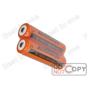 Wholesale PALIGHT BG 18650 2400mAh 3.7V Protected li-ion Battery ( 2 pcs )