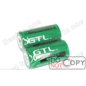 Wholesale GTL LR 123A 3.6V 1800mAh Green Rechargeable Li-ion Battery (2 pcs)