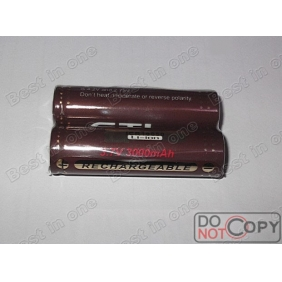Wholesale GTL ICR 18650 3000mAh 3.7V Rechargeable li-ion Battery ( 2 pcs )