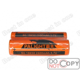 Wholesale PALIGHT BG 18650 2600mAh 3.7V Protected li-ion Battery ( 2 pcs )