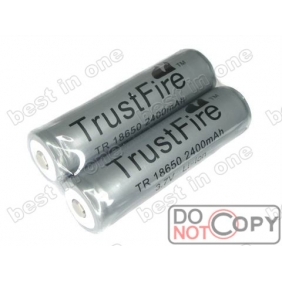 Wholesale Trustfire TR18650 2400mAh 3.7V Protected Li-ion battery (2 pcs)