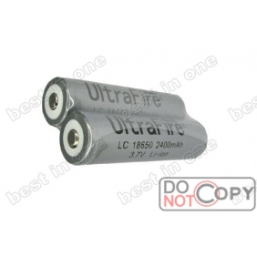 Wholesale UltraFire LC18650 2400mAh 3.7V Protected Li-ion Rechargeable Battery ( 2 pcs)