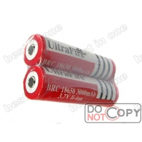 Wholesale UltraFire BRC 18650 3000mAh 3.7V Rechargeable li-ion Battery (2 pcs)