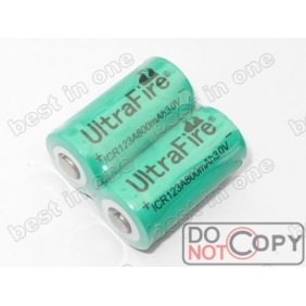 Wholesale Ultrafire ICR123A 3.0V rechargeable Li-ion Battery ( 2 pcs )