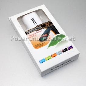 Wholesale Portable TOMO mobile power bank with white for 2*18650 3.7v batteries