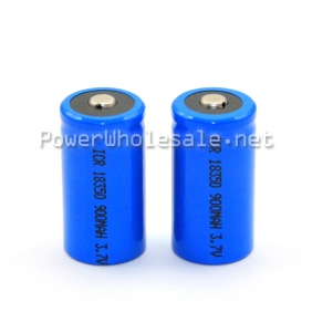 Wholesale Welcome to OEM!!Blue button ICR 18350 900mah rechargeable 3.7V battery(1pc)