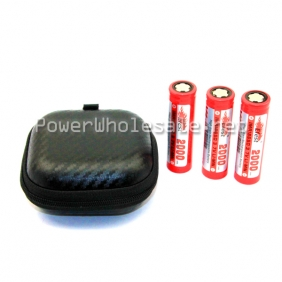 Wholesale 3*18650 battery Round face battery zipper carrying case