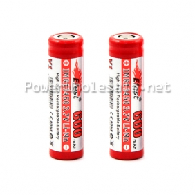 Wholesale 13450 Efest IMR 3.7v Rechargable Battery withcapacity 600mAh flat top