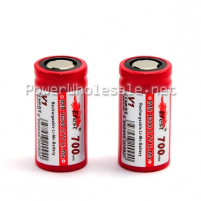 Wholesale Efest IMR 3.7v 16340 700mAh Rechargeable Battery with flat top