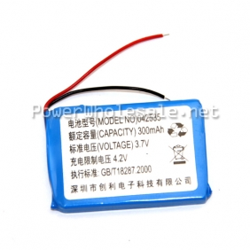 Wholesale 3.7V 300mAh Lithium Ion Battery Pack