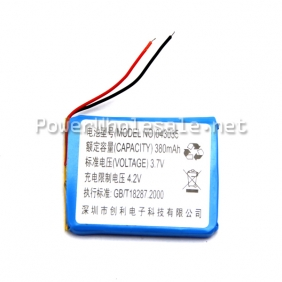 Wholesale 3.7V 380mAh Lithium Ion Battery Pack