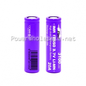 Wholesale New arrival Efest Purple 18650 3100mAh 20amp battery flat top