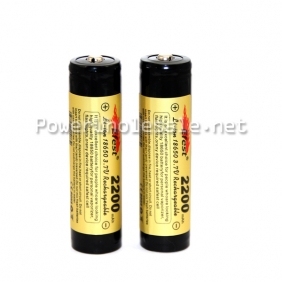Wholesale Efest Li-ion battery 18650 2200mah protected button top battery efest 18650 battery 1pc