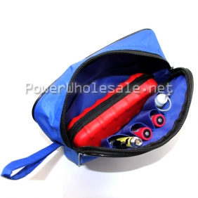 Wholesale new blue ecig bag big size for electronic cigarette canvas ecig bag