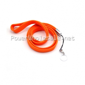 Wholesale Orange electronic cigarette lanyard rings with thin ring